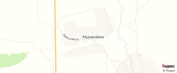Карта деревни Муравлевки в Брянской области с улицами и номерами домов