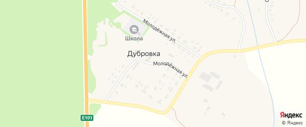 Молодежная улица на карте села Дубровки с номерами домов