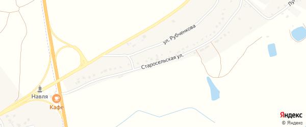 Старосельская улица на карте деревни Селища с номерами домов