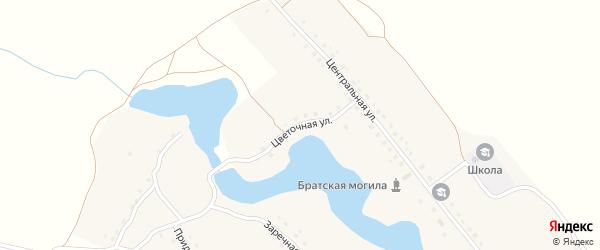 Цветочная улица на карте села Голышина с номерами домов