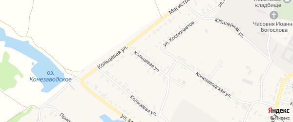 Кольцевая улица на карте поселка Локтя с номерами домов