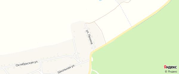 Улица Ленина на карте деревни Городища 1-е с номерами домов