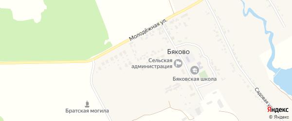 Молодежная улица на карте села Бяково с номерами домов