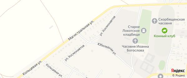 Улица Космонавтов на карте поселка Локтя с номерами домов
