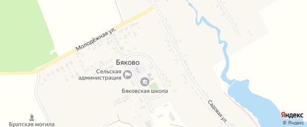 Клубная улица на карте села Бяково с номерами домов