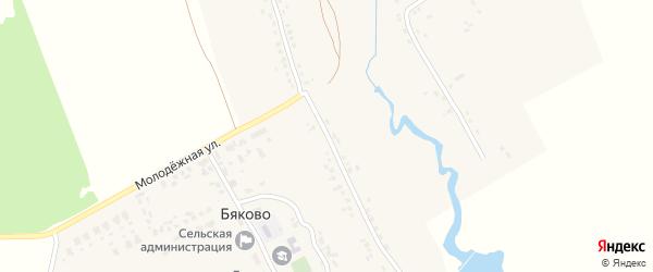 Садовая улица на карте села Бяково с номерами домов