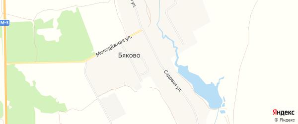 Карта села Бяково в Брянской области с улицами и номерами домов