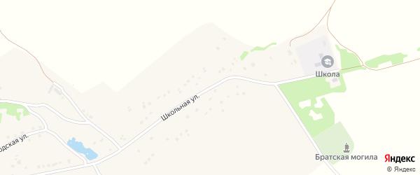 Школьная улица на карте деревни Погребы с номерами домов