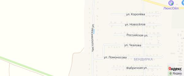 Чистополянская улица на карте поселка Локтя с номерами домов