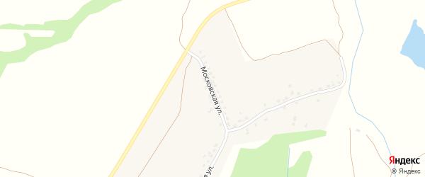 Московская улица на карте деревни Селища с номерами домов