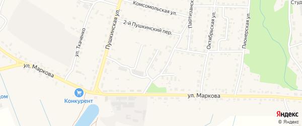 Спиртзаводской переулок на карте поселка Локтя с номерами домов