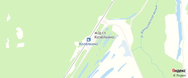 Карта железнодорожной станции Козелкино в Брянской области с улицами и номерами домов