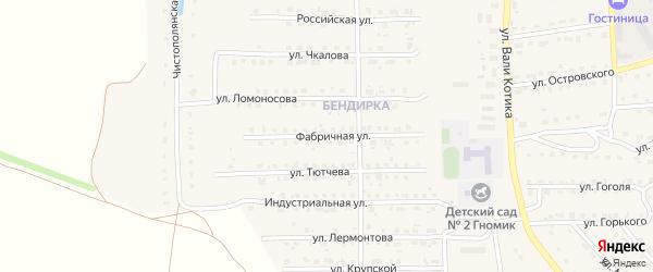 Фабричная улица на карте поселка Локтя с номерами домов