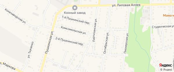 Территория ГО 4 на карте поселка Локтя с номерами домов