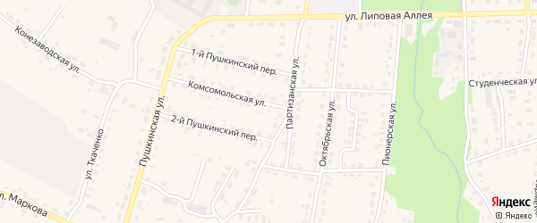 Территория ГО 1 на карте поселка Локтя с номерами домов