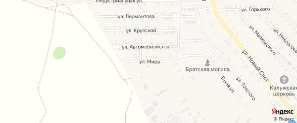 Улица Мира на карте поселка Локтя с номерами домов