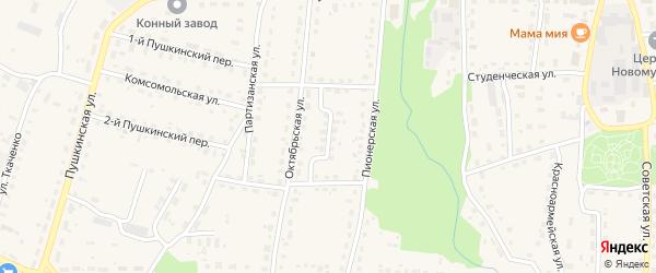 Пионерский переулок на карте поселка Локтя с номерами домов