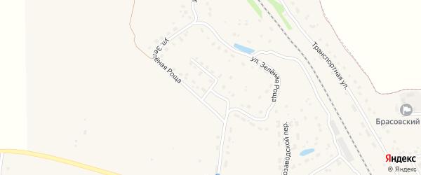 Зеленорощенский переулок на карте поселка Локтя с номерами домов