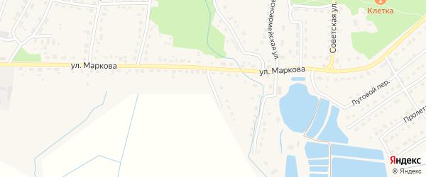 2-й Первомайский на карте поселка Локтя с номерами домов