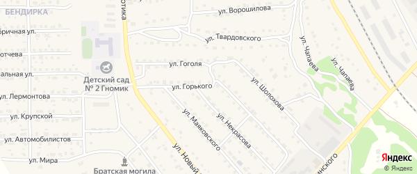 Улица Горького на карте поселка Локтя с номерами домов