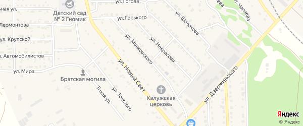 Улица Маяковского на карте поселка Локтя с номерами домов