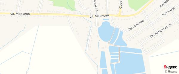 1-й Первомайский на карте поселка Локтя с номерами домов