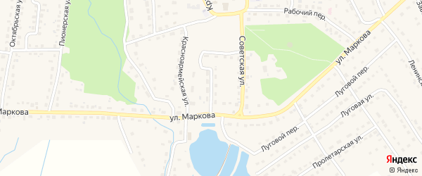Набережная улица на карте поселка Локтя с номерами домов