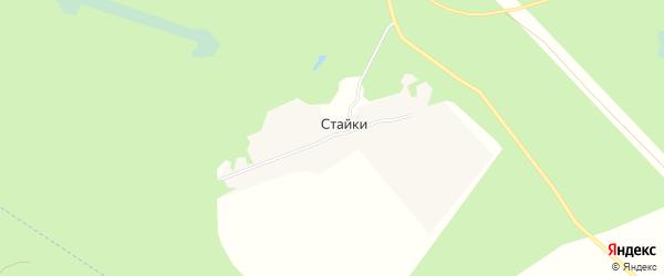 Карта поселка Стайки в Брянской области с улицами и номерами домов