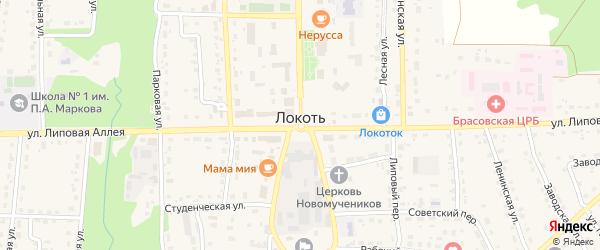 Территория Сараи (за гаражами по ул Дзержинского) на карте поселка Локтя с номерами домов