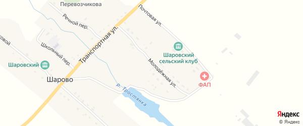 Молодежная улица на карте села Шарово с номерами домов