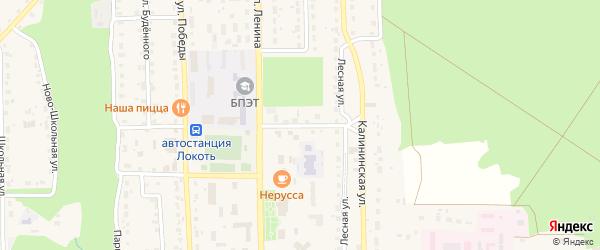 Улица Павших Героев на карте поселка Локтя с номерами домов