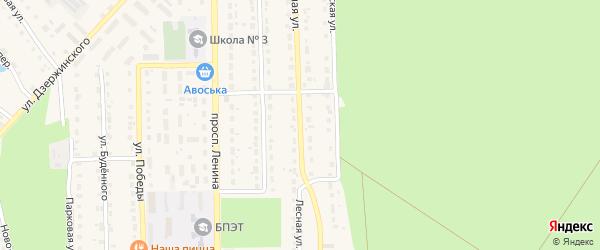 Лесная улица на карте поселка Локтя с номерами домов