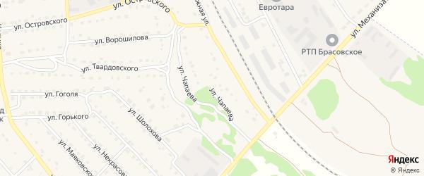 Улица Чапаева на карте поселка Локтя с номерами домов