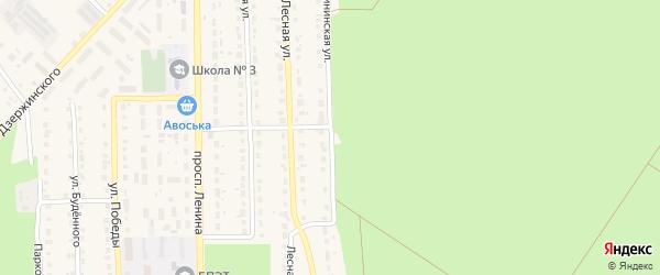 Калининская улица на карте поселка Локтя с номерами домов