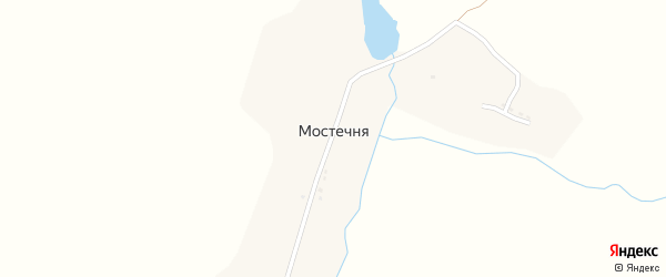 Улица Панина на карте деревни Мостечни с номерами домов