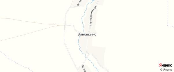 Карта деревни Зиновкино в Брянской области с улицами и номерами домов