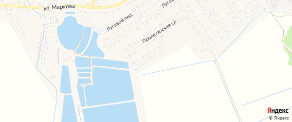 Молодежная улица на карте поселка Локтя с номерами домов