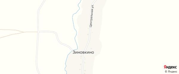 Центральная улица на карте деревни Зиновкино с номерами домов