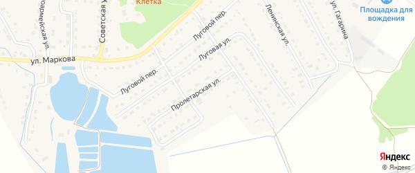 Пролетарская улица на карте поселка Локтя с номерами домов