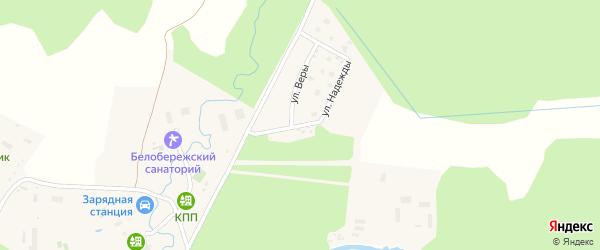 Софийская улица на карте поселка Бело-Бережский санатория турбазы с номерами домов