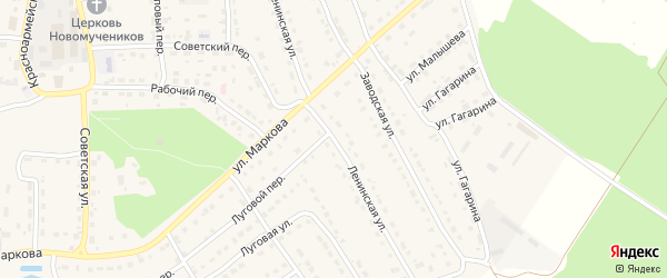 Ленинская улица на карте поселка Локтя с номерами домов