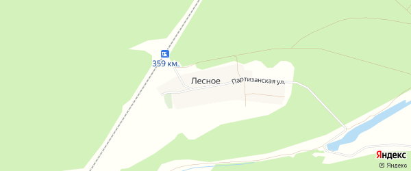 Карта Лесного села в Брянской области с улицами и номерами домов