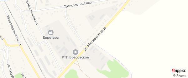 Улица Механизаторов на карте поселка Локтя с номерами домов