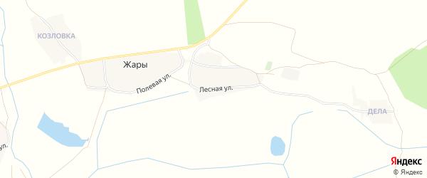 Карта поселка Жары в Брянской области с улицами и номерами домов