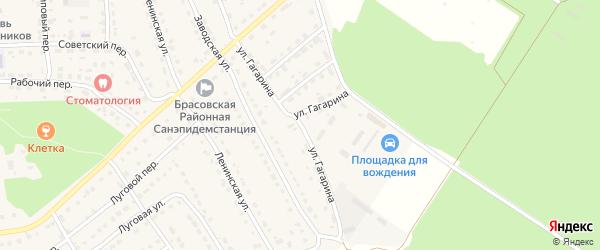 Улица Гагарина на карте поселка Локтя с номерами домов