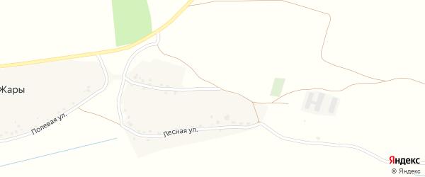 Лесная улица на карте поселка Жары с номерами домов