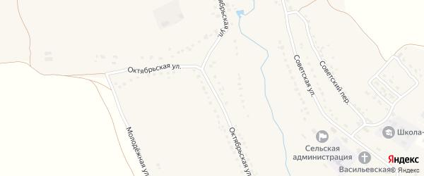 Октябрьская улица на карте села Брасово с номерами домов