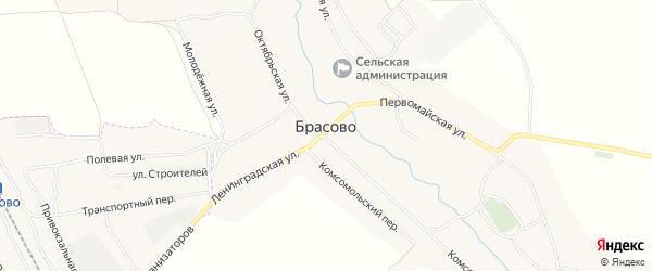 Карта села Брасово в Брянской области с улицами и номерами домов