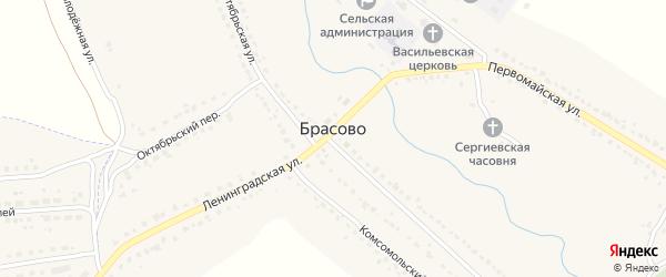 Молодежная улица на карте села Брасово с номерами домов