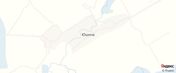 Карта деревни Юшина в Брянской области с улицами и номерами домов